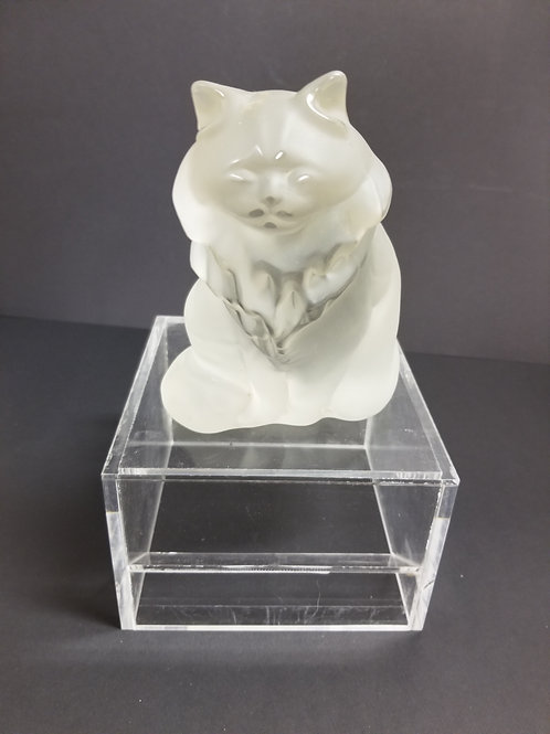 Frosted Glass Figure of a Cat