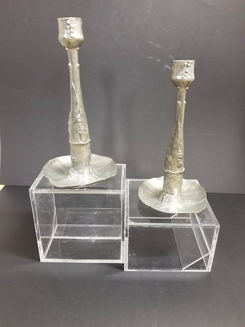 Art Nouveau Kayserzinn Candlesticks, Germany C.1900