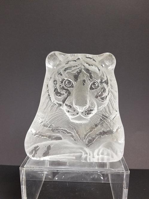 Vintage Mats Jonasson glass tiger