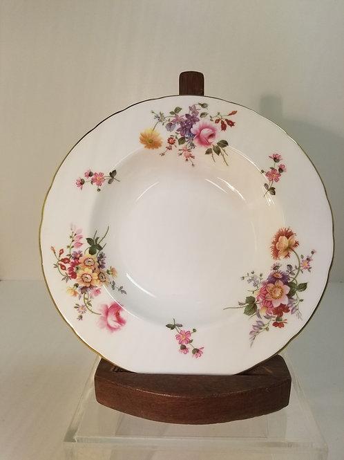 Royal Crown Derby bone china rimed soup bowl
