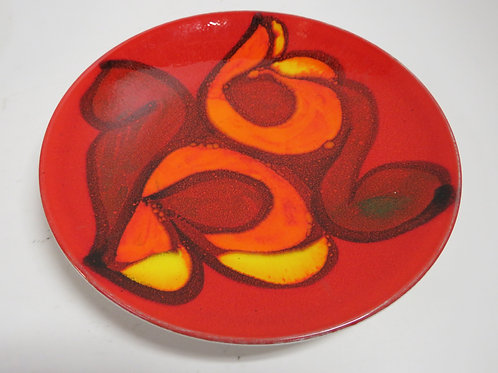 A Poole pottery Delphis dish stamped and signed