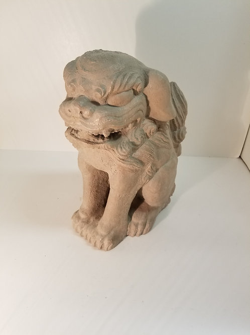 A cast plaster Fu dog by Austin c1962