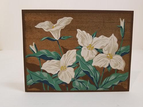 A J Casson silkscreen of trillium