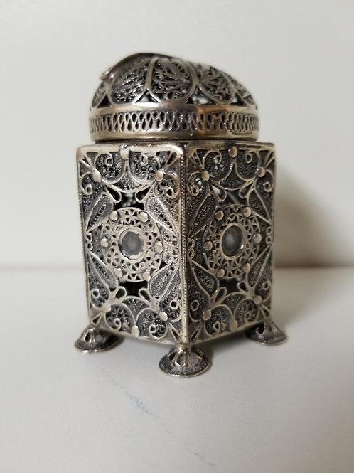 Judaica silver charity box