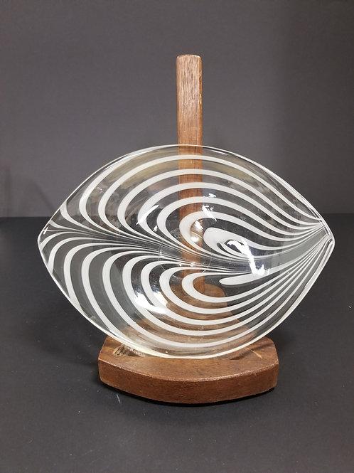 Maija Carlson Art Glass dish Oy Kumela