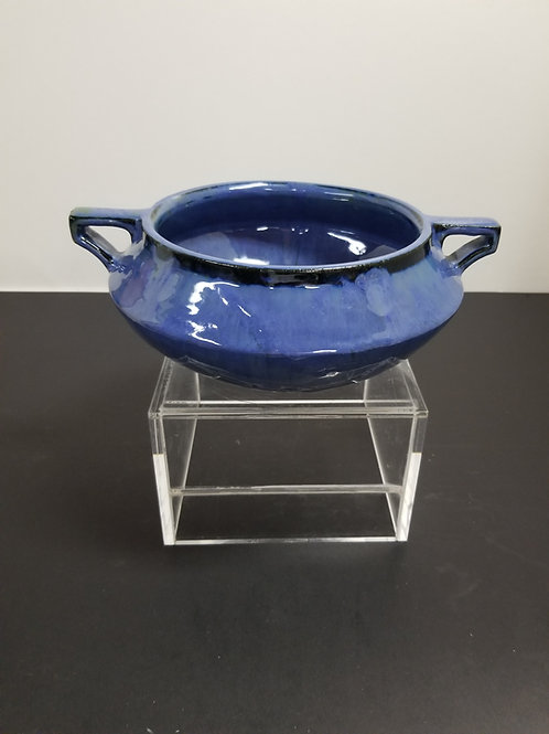 A Fulper Pottery Blue Glazed Twin Handled Bowl
