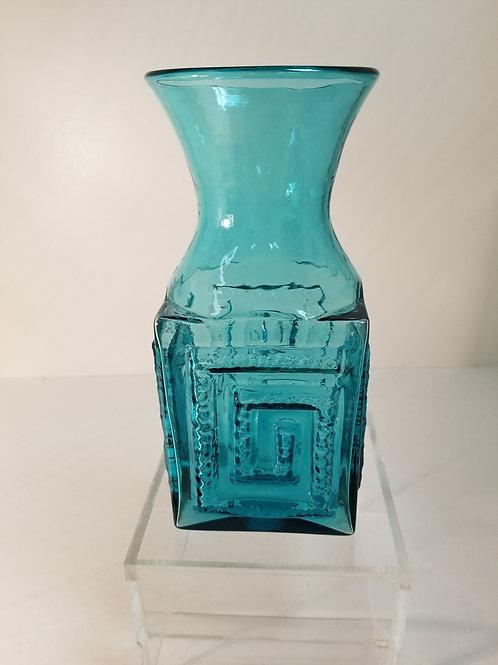 Frank Thrower Dartington Kingfisher blue vase # F T 58