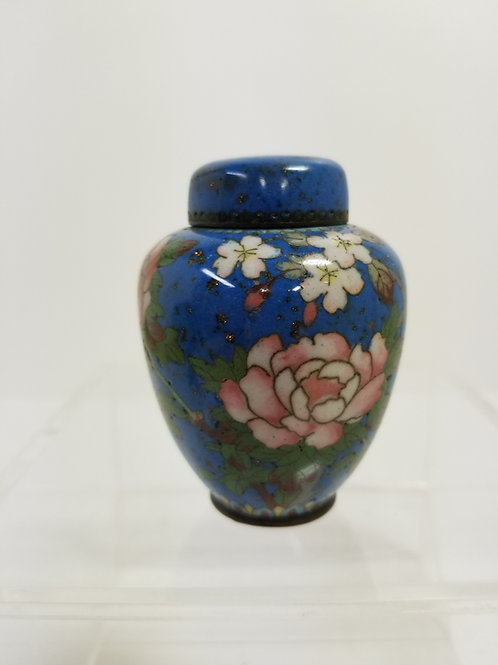 19th Century Japanese Cloisonne Jar And Cover Meiji Period