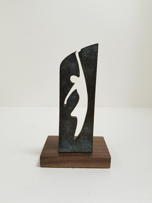 Bronze sculpture of a dancer cast by Artcast and signed S G S