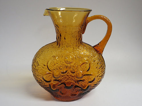 a mid century Amber glass mould blown jug