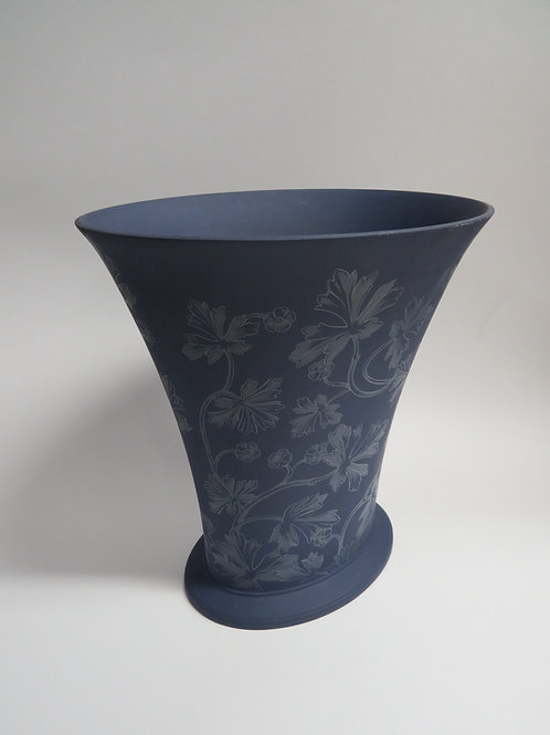 A modern wedgwood vase with printed floral design