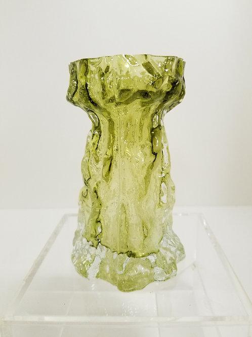 """Whitefriars Glass Vase Bark Textured 6"""""""