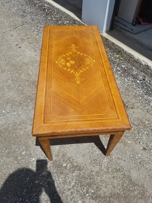 A Walnut Coffee Table with Satin wood inlay