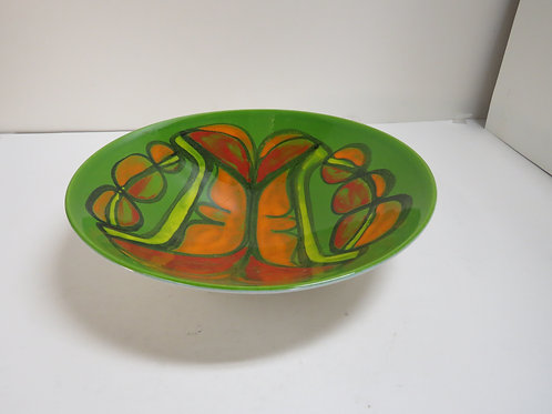 A Poole pottery Delphis plate stamped and signed