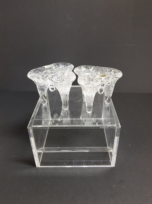 A Pair of Kosta Boda Candle Holders