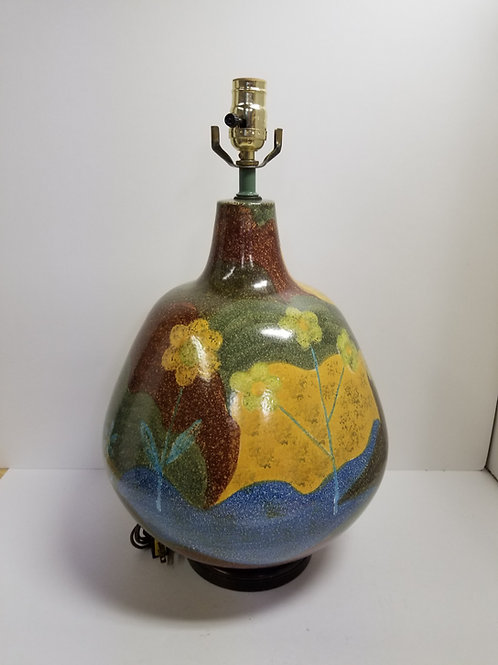 Alvino Bagni Hand Painted Ceramic Lamp