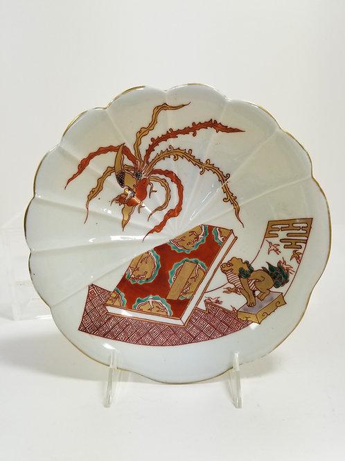 19th Century Japanese Kutani Porcelain Plate Signed