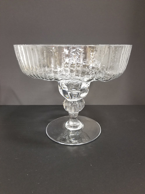 """Tapio Wirkkala Rosenthal Studio Line """"Structure"""" Footed Crystal Compote"""