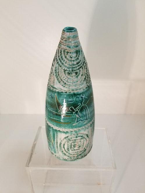 Mid Century Italian Pottery Vase By L.Sturzo Calagirone vase