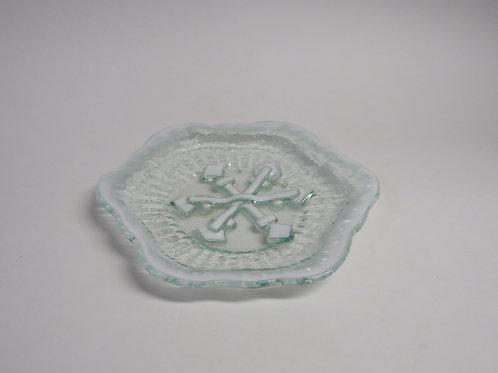 Mid century cased glass dish