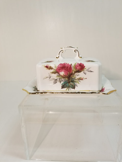 A Spode butter dish and cover