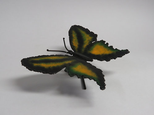 A metal wall sculpture Butterfly signed M.Linet
