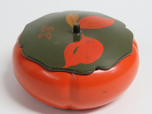 A red and brown Lacquer box and cover Japan c1950