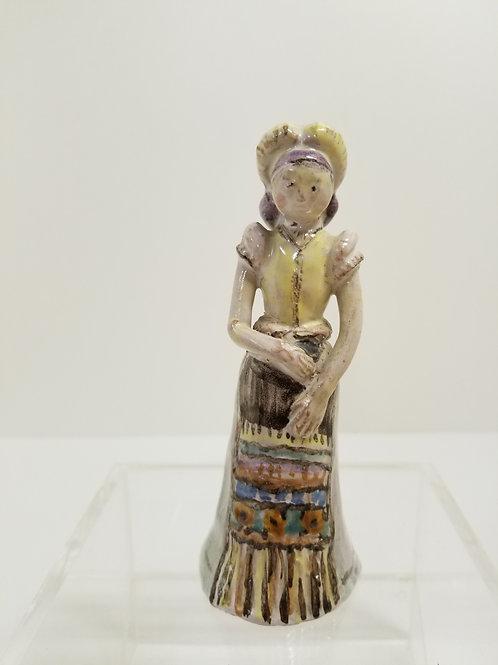 A Istvan Gador Hungarian pottery folk art sculpture of a female figurec