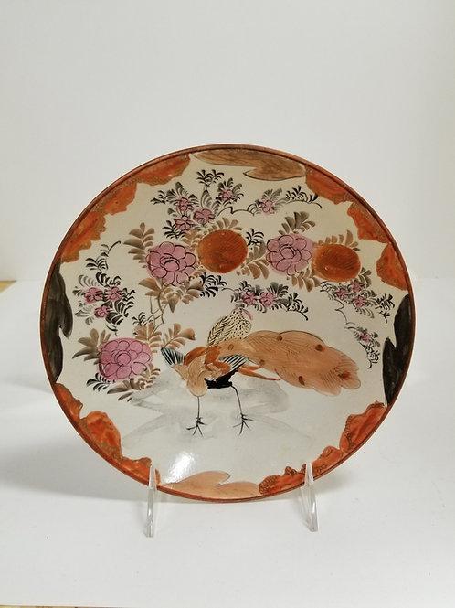 A Japanese Kutani Porcelain Cabinet Plate