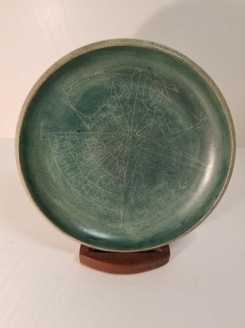 Brooklin Studio Pottery Wall Plate By Theo & Susan Harlander
