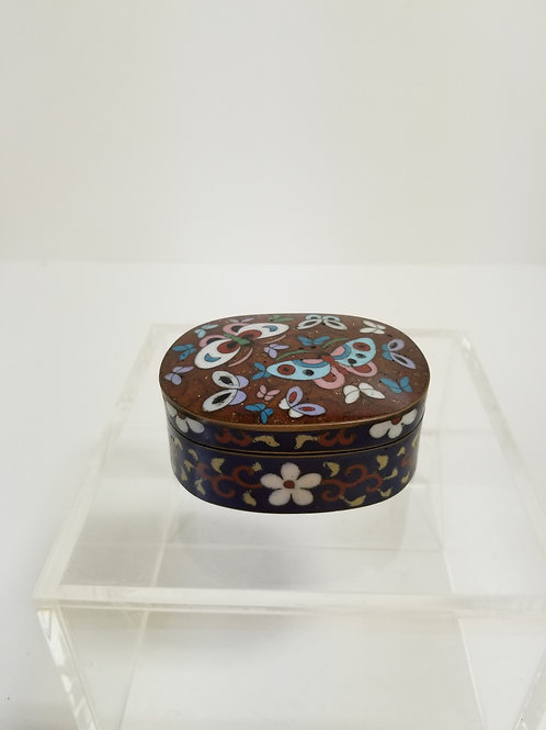 19th Century Japanese Cloisonne Box And Cover Meiji Period