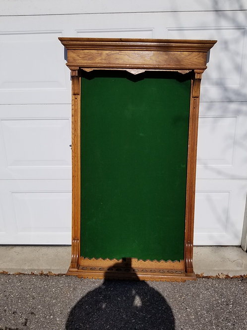 Antique East lake style pool cue rack