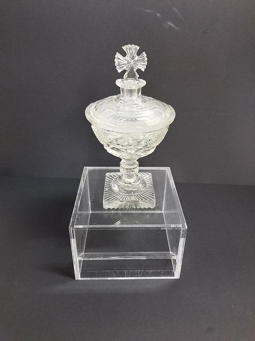 Rare 19th century cut glassecclesiastical covered communion set
