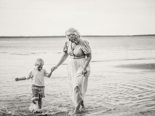 Mamma & Barn Porträtt på stranden