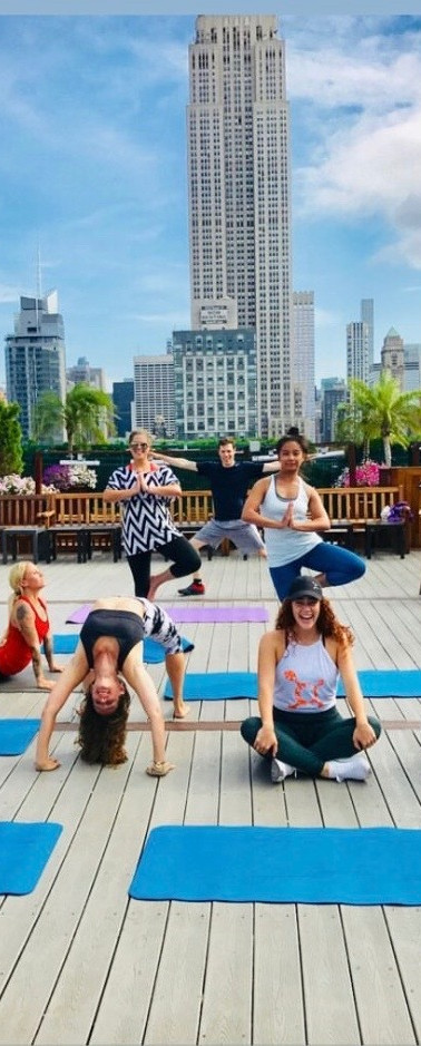 Sol Yoga Rooftop with Orange Theory Fitness @ 230 5th, NYC