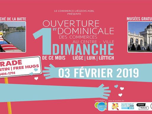 Ouverture Dominicale Liège et Parade Free Hugs - Calins Gratuits