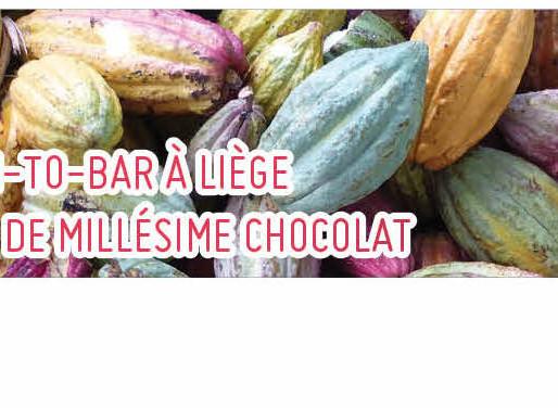 Bean-to-Bar à Liège autour de Millésime Chocolat