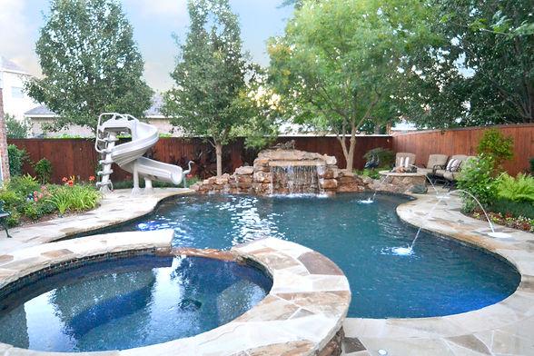 Amazing pool and landscape design by T.H.Pritchett/Associates