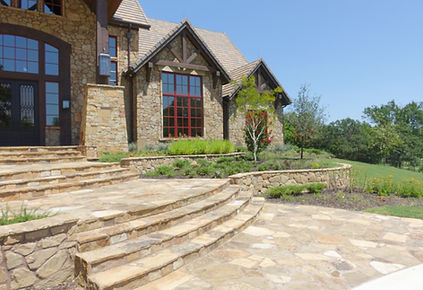 Beautiful stone steps and landscape design by Tom Pritchett
