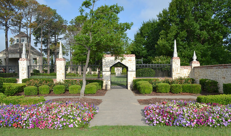 Beautiful community entrance wall landscape design by Tom Pritchett