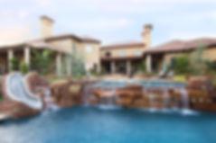 Beautiful pool landscape design by T.H.Pritchett/Associates