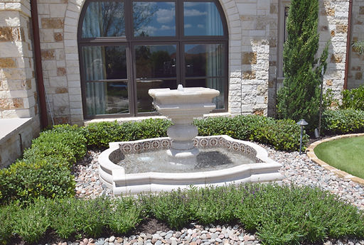 Beautiful landscape design and fountain by Tom Pritchett