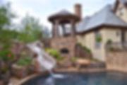 Beautiful pool landscape design by T.H.Pritchett/Associate