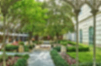 The Hotel Crescent Court courtyard