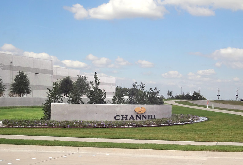 Channel building corporate landscape design by Tom Pritchett