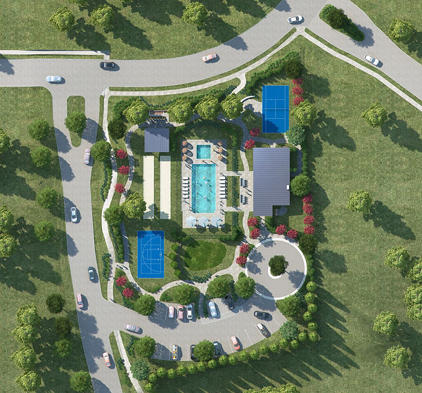 Montrachet in Ft. Worth landscape design plan computer rendering by landscape architect Tom Pritchett