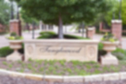 Beautiful Tanglewood community entrance sign and landscape design by T.H.Pritchett/Associates
