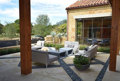 Beautiful patio landscape design by THPritchett/Associates