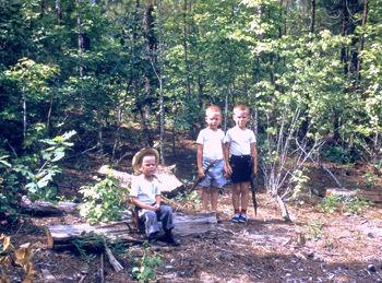 Tom, Dan and John Pritchett as boys in Virginia