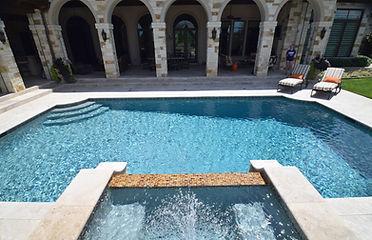Beautiful pool and landscape design by THPritchett/Associates